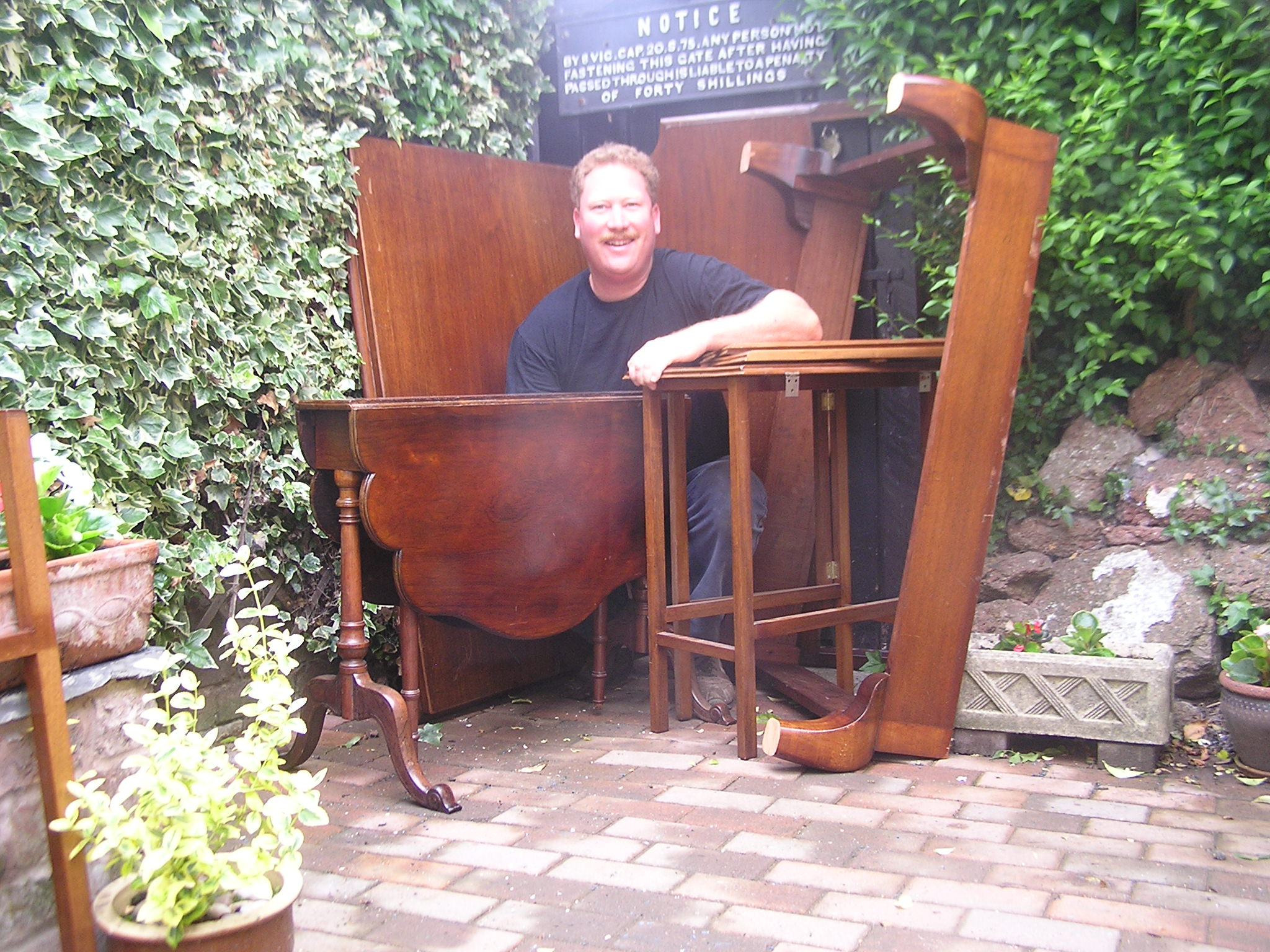 Author John Buckham's haul of antique furniture